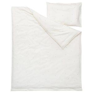 ЛЕНАСТ Пододеяльник, наволочка д/кроватки, белый 110x125/35x55 см - 504.923.02