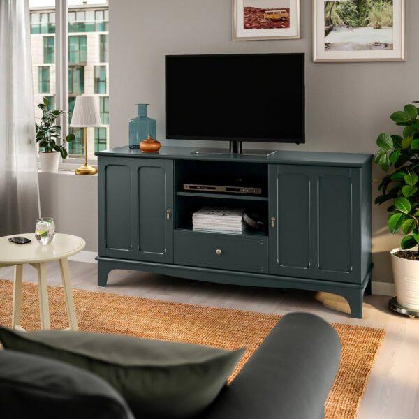 ЛОММАРП Тумба под ТВ, темный сине-зеленый 159x45x81 см - 604.353.87