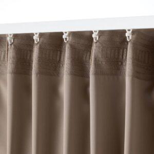 МАЙГУЛЛ Гардины, блокирующие свет, 2 шт., серый/коричневый 145x300 см - 704.881.20