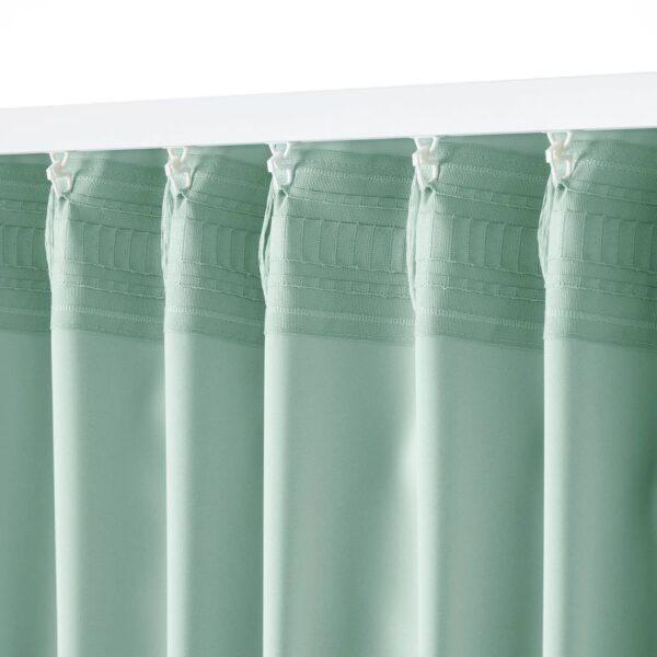 МАЙГУЛЛ Затемняющие гардины, 2 шт., светло-зеленый 145x300 см - 604.881.25