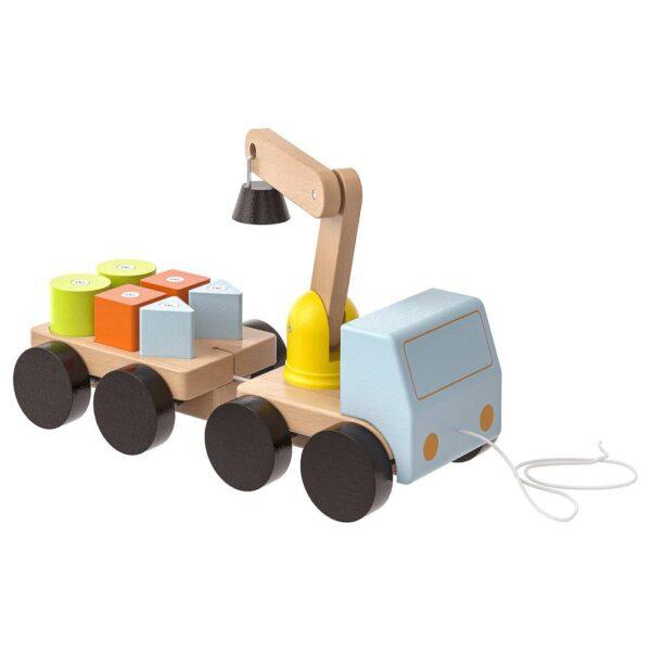 МУЛА Подъёмный кран с кубиками, разноцветный/бук - 403.646.49