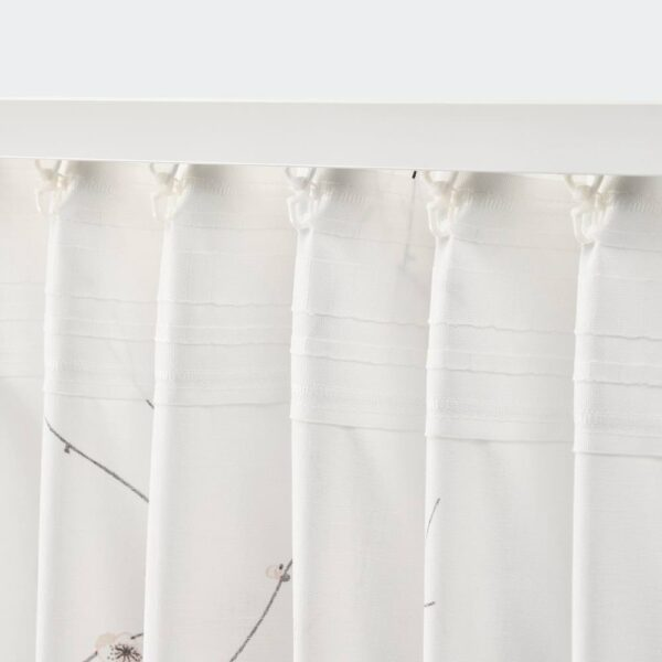 РЁДЛЁНН Гардины, 2 шт., белый/цветок 145x300 см - 004.879.54