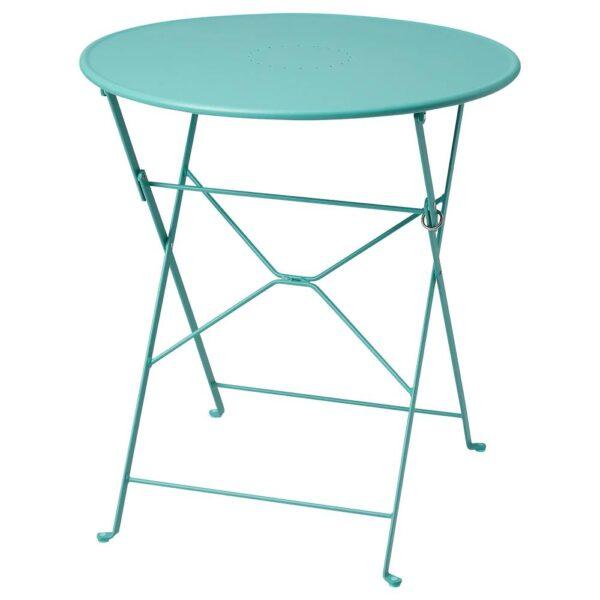 САЛЬТХОЛЬМЕН Садовый стол, складной/бирюзовый 65 см - 905.060.00
