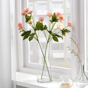 СМИККА Цветок искусственный, д/дома/улицы/Анемон светло-розовый 59 см - 604.760.47