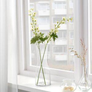 СМИККА Цветок искусственный, д/дома/улицы/Дельфиниум белый 60 см - 404.760.53