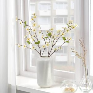 СМИККА Цветок искусственный, д/дома/улицы/Дерен белый 56 см - 004.760.74