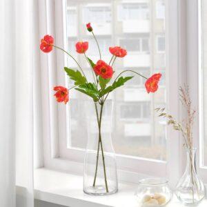 СМИККА Цветок искусственный, д/дома/улицы/Мак красный 60 см - 704.760.75