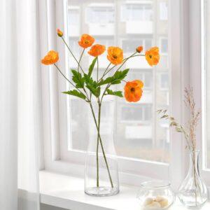 СМИККА Цветок искусственный, д/дома/улицы/Мак оранжевый 60 см - 704.760.56