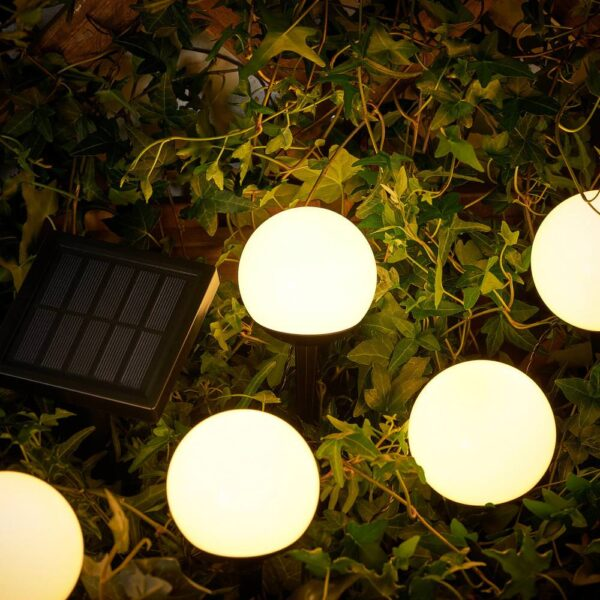 СОЛВИДЕН Подсветка н/солн батарее,светодиод, для сада/5 стеблей белый - 404.872.64