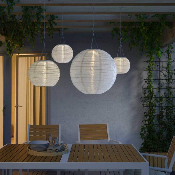 СОЛВИДЕН Подвесная светодиодная лампа, для сада/шаровидный белый 45 см - 204.843.08
