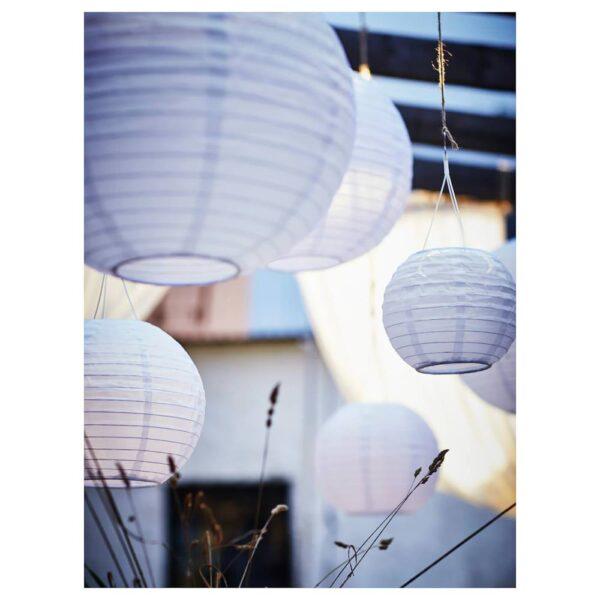 СОЛВИДЕН Подвесная светодиодная лампа, для сада/шаровидный белый 22 см - 504.843.16