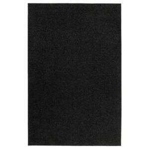 СПОРУП Ковер, короткий ворс, черный 133x195 см - 304.876.41