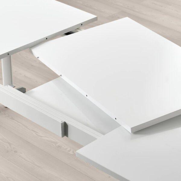 СТРАНДТОРП Раздвижной стол, белый 150/205/260x95 см - 004.872.80