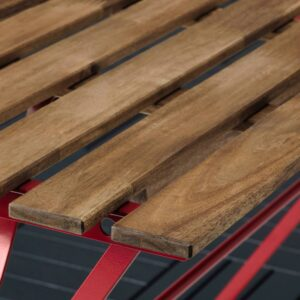 ТЭРНО Садовый стол, красный/светло-коричневая морилка 100x54 см - 004.818.48