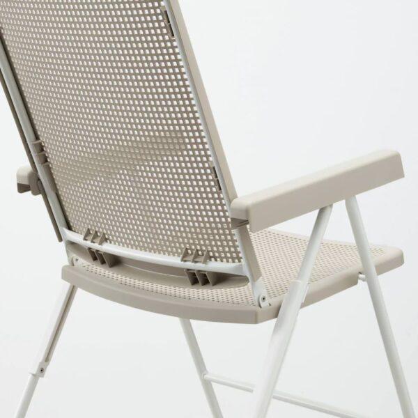 ТОРПАРЁ Садовое кресло/регулируемая спинка, белый/бежевый - 104.613.45