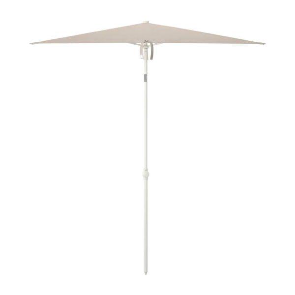 ТВЕТЁ Зонт от солнца, наклонный/серо-бежевый белый 180x145 см - 804.806.23