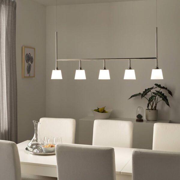 ТИБЛ Подвесной светильник/5 светодиодов, никелированный/молочный стекло - 903.982.51