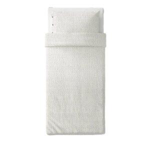 ВЭГТОГ Пододеяльник и 1 наволочка, белый/темно-коричневый 150x200/50x70 см - 404.822.90