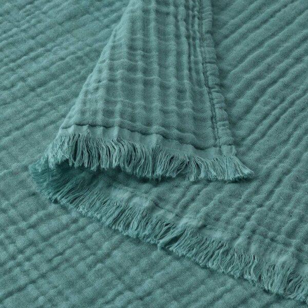 ВАЛЛКРАССИНГ Плед, серо-бирюзовый 150x200 см - 104.861.76