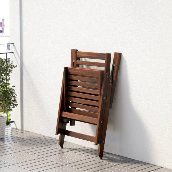 ЭПЛАРО Стол+8кресел,д/сада, коричневая морилка/Куддарна серый - 692.897.77