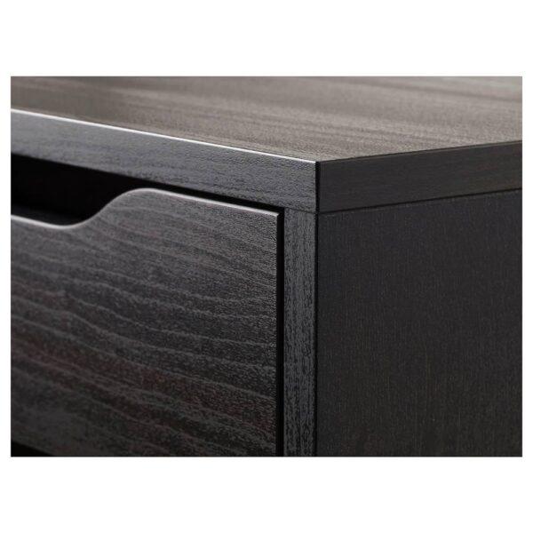 АЛЕКС Тумба с ящиками, черно-коричневый 36x70 см - 804.735.52