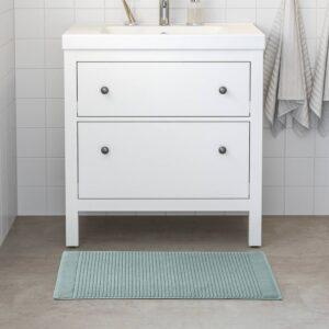 АЛЬСТЕРН Коврик для ванной, светлый серо-зеленый 50x80 см - 404.881.45