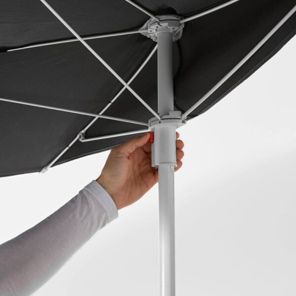 БРАМСОН / ФЛИСО Зонт от солнца с опорой, черный - 392.289.88