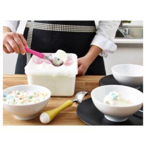 ЧОСИГТ Ложка для мороженого, желтый/зеленый/синий/розовый - 803.746.65