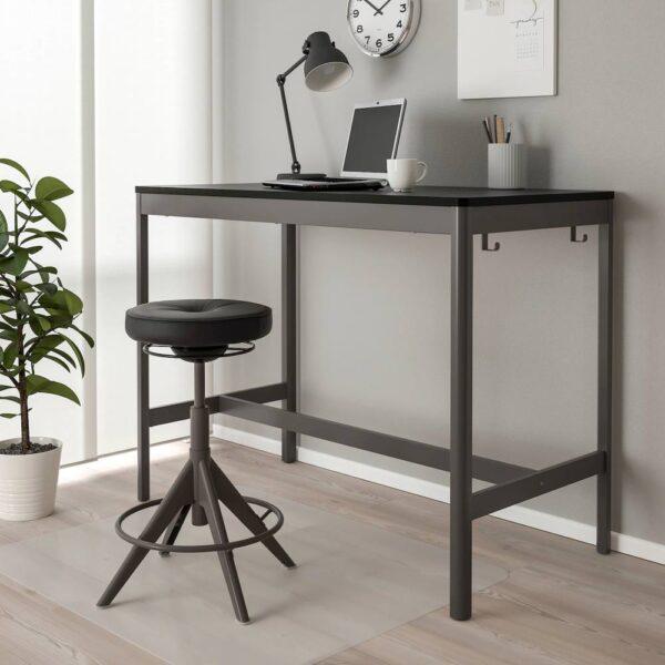 ИДОСЕН Стол, черный/темно-серый 140x70x105 см - 493.958.87