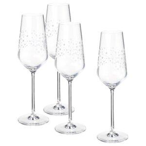 ИНБЬЮДЕН Бокал для шампанского, прозрачное стекло 24 сл - 704.911.89
