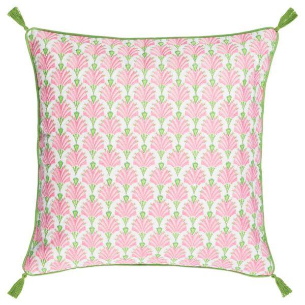 ИНБЬЮДЕН Чехол на подушку, белый/розовый 50x50 см - 204.914.55