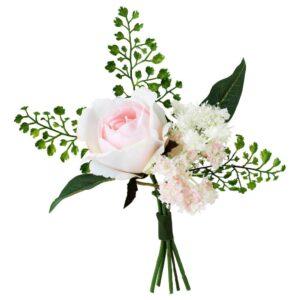 ИНБЬЮДЕН Искусственный букет, розовый 21 см - 604.914.15