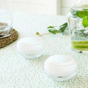 ИНБЬЮДЕН Подсвечник для греющей свечи, стекло белый 5 см - 304.913.13