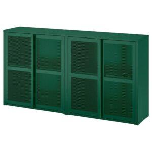 ИВАР Шкаф с дверями, зеленый сетка 160x30x83 см - 594.174.69