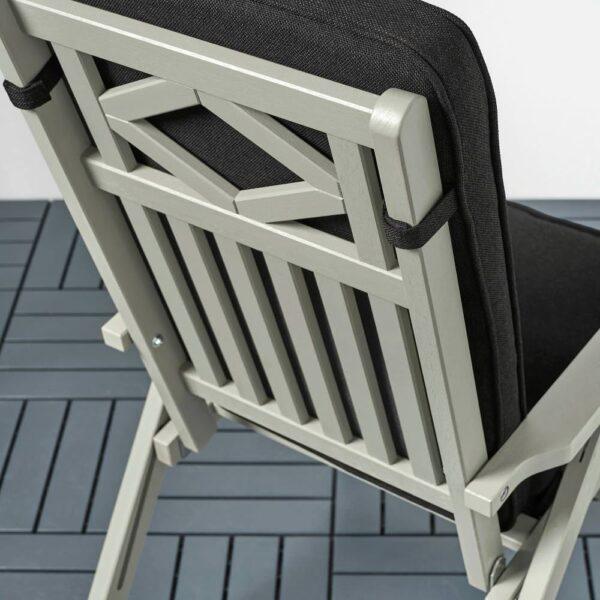 ЙЭРПОН/ДУВХОЛЬМЕН Подушка на садовую мебель, антрацит 116x45 см - 694.128.24