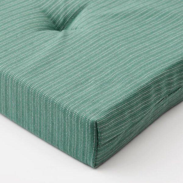 ЮСТИНА Подушка на стул, серо-бирюзовый 42/35x40x4 см - 904.912.54