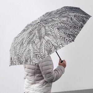 КНЭЛЛА Зонт, складной белый/черный - 804.939.65