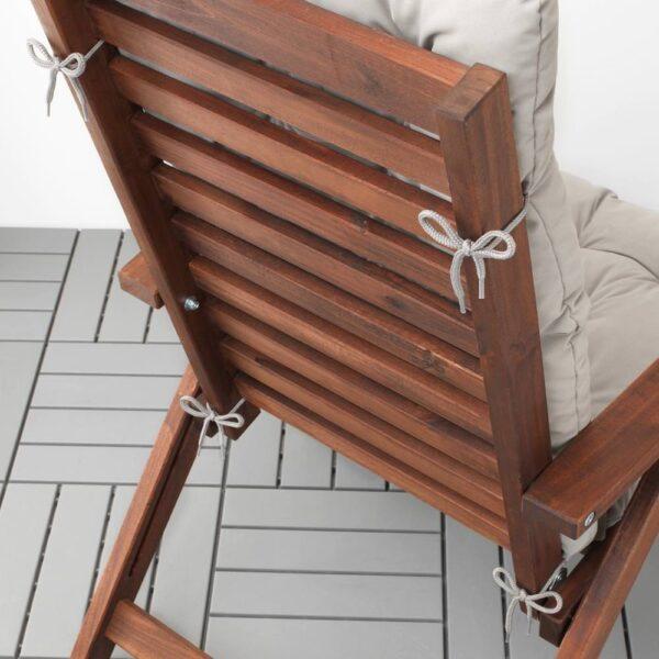 КУДДАРНА Подушка на садовую мебель, серый 116x45 см - 404.111.46