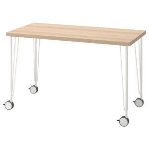ЛАГКАПТЕН / КРИЛЛЕ Письменный стол, под беленый дуб/белый 120x60 см - 794.169.11