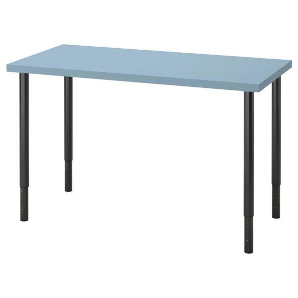 ЛАГКАПТЕН / ОЛОВ Письменный стол, голубой/черный 120x60 см - 194.169.85