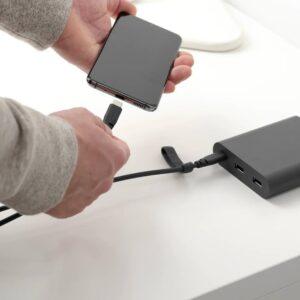 ЛИЛЛЬХУЛЬТ Кабель с разъемами USB-C, темно-серый 1.5 м - 804.915.46