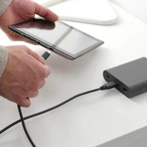 ЛИЛЛЬХУЛЬТ Кабель USB тип А – micro-USB, темно-серый 1.5 м - 004.847.95