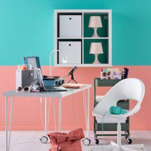 ЛИННМОН / КРИЛЛЕ Письменный стол, белый 100x60 см - 894.162.13