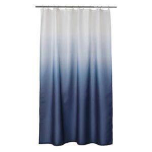 НЮККЕЛЬН Штора для ванной, белый/темно-синий 180x200 см - 804.938.66