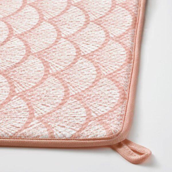 НЮХОЛИД Коврик для сушки посуды, розовый/с рисунком 44x36 см - 604.881.68