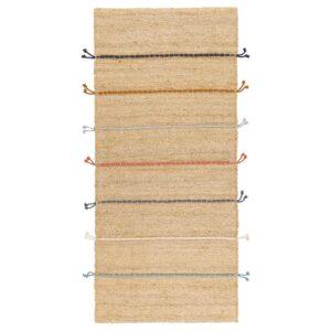 РАКЛЕВ Ковер безворсовый, ручная работа неокрашенный/разноцветный 70x160 см - 304.080.26