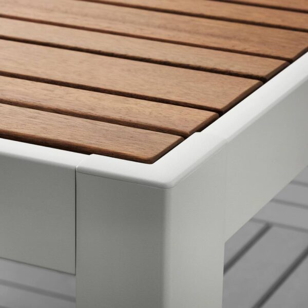 ШЭЛЛАНД Стол+6кресел,д/сада, светло-коричневый/Куддарна серый 156x90 см - 992.918.87