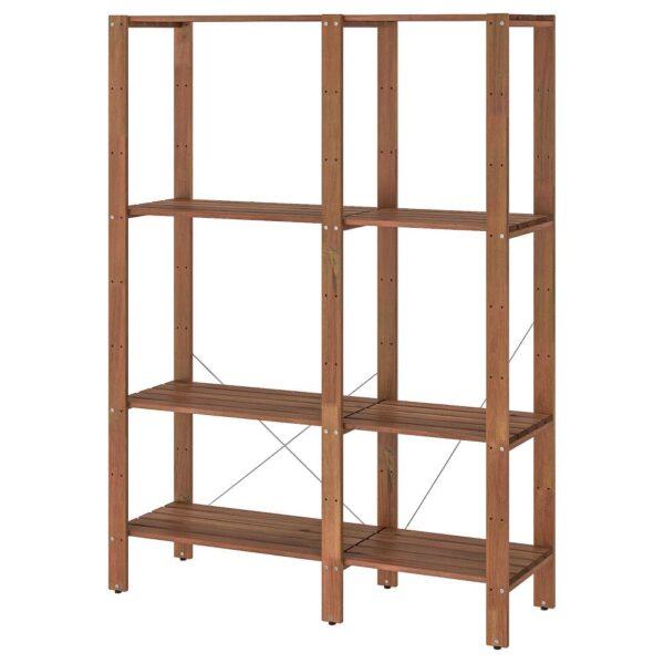 ТУРД Стеллаж, д/сада, коричневая морилка 120x35x161 см - 293.164.19