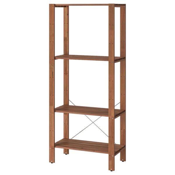 ТУРД Стеллаж, д/сада, коричневая морилка 70x35x161 см - 393.161.69