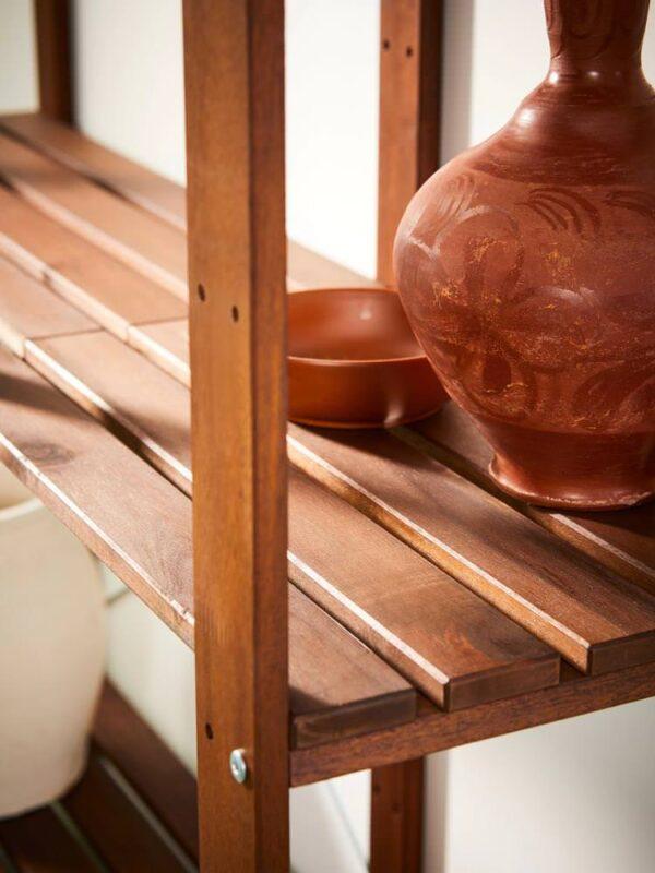 ТУРД Стеллаж, д/сада, коричневая морилка 70x35x161 см - 493.161.78
